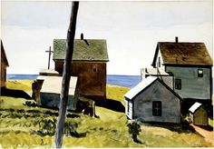 Edward Hopper (American, American Realism, Two Lights Village, 1927 American Realism, American Artists, Robert Rauschenberg, Toulouse, Monet, Edward Hopper Paintings, David Hockney, Ashcan School, Social Realism