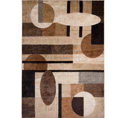 Nolan Patterned Brown/Tan Area Rug