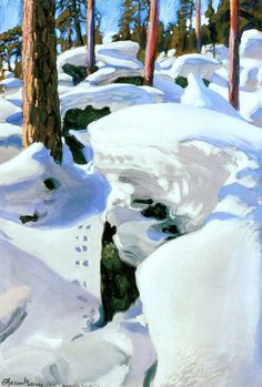 Akseli Gallen-Kallela  - 1904-1906  The Lair of the Lynx