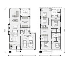 Gardner Homes make building your new home stress free. Browse home designs online or speak to one of our friendly builders today! Family House Plans, Dream House Plans, House Floor Plans, Split Level Floor Plans, Office Open Plan, Pool House Designs, Display Homes, Sims House, House Layouts