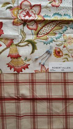 Robert Allen Shout Spring Azalea with Waverly Pantry Plaid