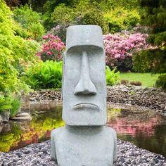 """Naturstein Steinfigur """"Ahu Marae"""" für den Garten"""