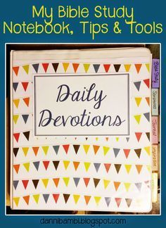 My Bible Study Tools, Highlighting System and Notebook (with free printables)   DanniBambi