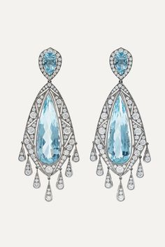 Aquamarine gypsy hoop earrings in 925 sterling silver March birthstone