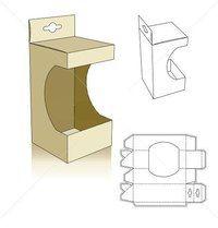 Window style carton box template with shelf hanger Más Diy Gift Box, Diy Box, Gift Boxes, Paper Toy, Diy Paper, Paper Gifts, Printable Box, Printables, Box Patterns