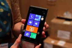 Here it is, goign to AT&T, the Nokia Lumia 900 with Windows Phone 7 Mango. It's that unibody polycarbonate build we saw with the beautiful N9 and it has LTE to boot! Click the picture for more info!
