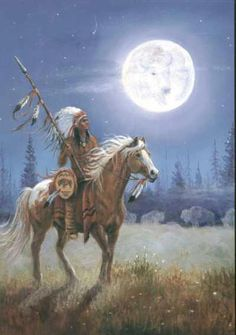 Native American, Moon Only the Spirit of The Great Spirit could do this. No man … Indianer, Mond Dies konnte nur der Geist des Großen Geistes tun. Native American Horses, Native American Warrior, Native American Paintings, Native American Pictures, Native American Wisdom, Native American Beauty, Native American Artists, American Indian Art, Native American History