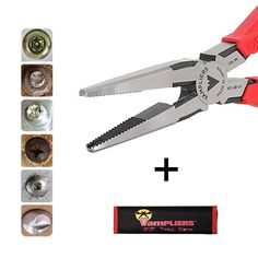 VAMPLIERS, . Best Made Pliers! Best Christmas Gift. Specialty Screw Extraction Pliers. Extract Stripped Stuck Security, Corroded, or Rusted Screws + Tool Pouch - - Amazon.com
