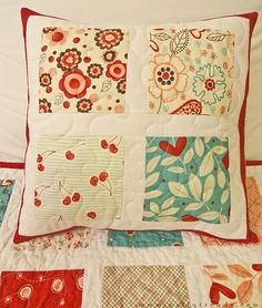 Quilted pillow case...I love the shape and the design.  Updated but still old fashioned in a faw. Good quilt.