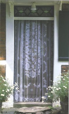 Needle-Works Butterfly: Filet Crochet Curtains III - See accompanying chart