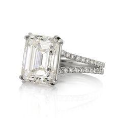 5.37ct Emerald Cut Diamond Engagement Anniversary by MarkBroumand