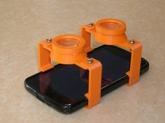 Glasses customizable Google Cardboard (OpenSCAD format) to fit any smartphone size.
