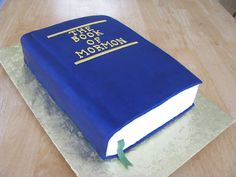 Book Of Mormon Cake To Commemorate The Completion Of Study Cover Is Made Of Fondant Partially Dry To Look Like Old Cracked Leather