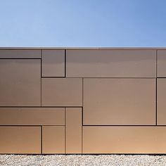 Facade Projekt Golden SPA. #Fabi architekten bda #Architecture #Trespa #gold