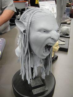 3D Avatar Neytiri bust created with ZBrush