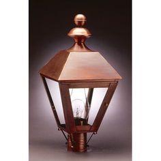 Northeast Lantern Boston 3 Light Lantern Head Finish: Dark Brass, Shade Type: Clear Seedy