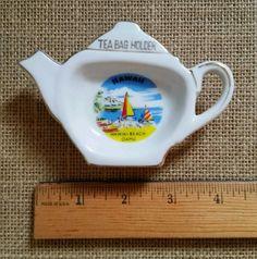 Vintage Tea Bag Holder- Hawaii Waikiki Beach Oahu Travel Souvenir