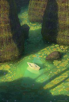 azertip:  illustratosphere: Secret place byGediminas Pranckevicius
