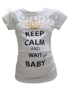 Blusa de maternidad Keep Calm – Mouse Apparel