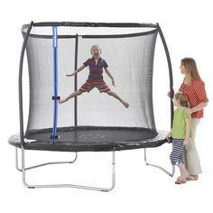 Trampolim 244 com Rede 75 kg, um trampolim muito resistente e fácil de montar, com proteção lateral em rede. Inclui molas extrafortes para uma maior resistência e uma rede resistente para uma maior proteção. Dimensões: 246 x 244 x 244 cm. Peso máximo suportado: 75 kg. Idade recomendada: +6 anos.