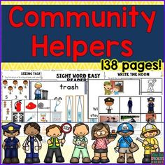 This set is packed with visuals and activities to help your students learn about community helpers while building reading, math and language skills. Ideal for special education classes, students with autism, and visual, hands on learners.