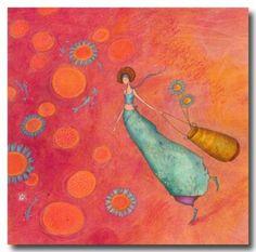 CARTES D'ART > BOISSONNARD Gaëlle > CARTES SIMPLES 14x14cm > BOISSONNARD Les fleurs bleues - e-mages - La carterie d art