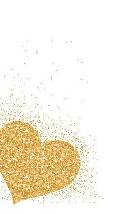 Gold Heart ★ Find more Sparkly & Glittery wallpapers for your #iPhone + #Android @prettywallpaper