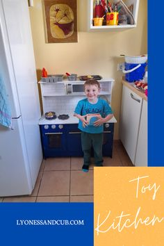 [Ad] My son loves his Teamson Kids toy kitchen and fervently bakes and cooks healthy lunches and dinners for mommy ;) Only when real muffins are in the game, he will get side-tracked and open the package to bake edible food with mommy... Kids Toy Kitchen, Wooden Toy Kitchen, Real Kitchen, Basic Kitchen, Wooden Toys, Toddler Toys, Kids Toys, Toy Supermarket, Wooden Slices