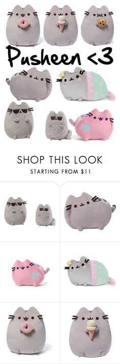 """""""Pusheen merchandise #2"""" by cheerandkpop4ever ❤ liked on Polyvore featuring interior, interiors, interior design, home, home decor, interior decorating, Pusheen and Gund"""