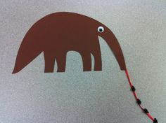 Rainforest theme - anteater craft www. Rainforest Crafts, Rainforest Theme, Rainforest Animals, Amazon Rainforest, Preschool Jungle, Preschool Crafts, Kid Crafts, Preschool Activities, Safari Theme