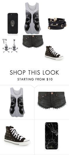 """""""life"""" by albree on Polyvore featuring WearAll, OneTeaspoon, Converse, Versace and Philipp Plein"""