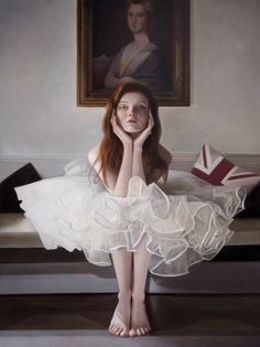 Mary Jane Ansell #portrait #oilpainting