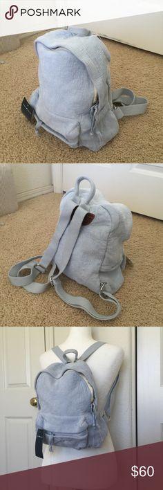 Brandy Melville pastel blue corduroy mini backpack Mini Brandy Melville Bags Backpacks