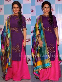 Tisha Saksena kurta-sharara suit