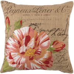 I love this, it would go perfect with the linen shams I pinned under sewing projects. I pinned this D.L. Rhein Rose Pillow from the Home Stories A to Z event at Joss and Main!