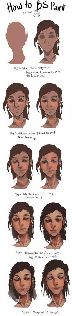 Digital art face painting
