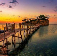 Bridge to Agios Sosis island , near Laganas in Zakynthos Greece Vacation, Greece Travel, Zakynthos Greece, Greece Holiday, Beautiful Places To Travel, Amazing Places, Greece Islands, Roadtrip, Amazing Nature
