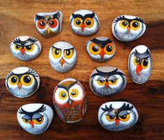 Painted rocks by L.A. Owls