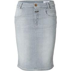 CLOSED Stretch Denim Skirt in Grey found on Polyvore