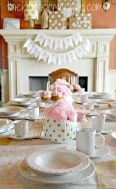 Gold Polka Dot Tea Party