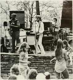 Bruce and Clarence rocking an outdoor show in the '70's.