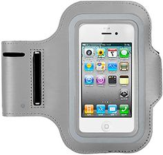 """myLife Light Gray and Coal Black {Rain Resistant Velcro Secure Running Armband} Dual-Fit with Key Slot Jogging Arm Strap Holder for Samsung Galaxy S4 Active i9295 and i537 """"All Ports Accessible"""" myLife Brand Products http://www.amazon.com/dp/B00U8255VO/ref=cm_sw_r_pi_dp_Y4zhvb09J80Q5"""