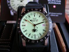 Glycine Airman luminova dial