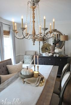 A Little Fall Tour and a HomeGoods Gift Card Giveaway (Dear Lillie) Diy Dining Room Table, Dining Room Walls, Dining Room Design, Dear Lillie, Front Rooms, Blogging, Farmhouse Kitchen Decor, Fashion Room, Room Decor