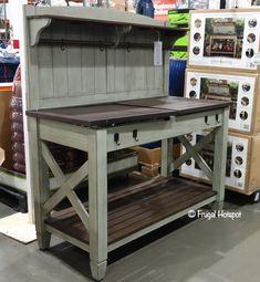 Costco has the tall Famosa Super Palace in stock for a limited time. Outdoor Potting Bench, Pallet Potting Bench, Potting Tables, Outdoor Storage, Bench Decor, Diy Bench, Planting Bench, Potting Station, Planter Table