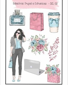 Chanel Print, Preppy Stickers, Mini Drawings, Happy Planner, Bullet Journal, Clip Art, Printables, Lettering, Lady