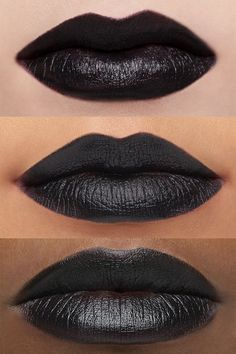 LUX it up. Enriched with our LUX Blend of hydrating butters, this creamy, long-wearing lipstick glides on the lips with rich pigmentation in a comfy, lightweight formula. You won't need wings to look fly in this bold black. Black Lips Makeup, Grey Lipstick, Long Wear Lipstick, Lip Makeup, Goth Makeup, Black And White Nail Designs, Matte Black Nails, Dark Lips, Dark Skin Tone