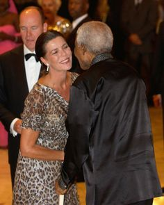 Mingling in Monaco - Madiba attended a gala dinner in Monaco in 2007 where he met Princess Caroline and Prince Albert.