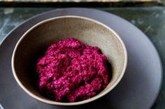 Beet Hummus - made this today to use for beet hummus and goat cheese sandwiches for lunches.  Mmmmmmm!!!