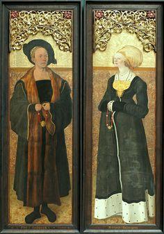 Portraits of Claus Stalburg and Margarete von Rhein by the Master of the Stalburg portraits,1504